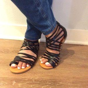 Black strappy gladiator sandals - Old Navy Brand